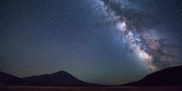 USA, Oregon, Mount Bachelor, Scenic view of night sky