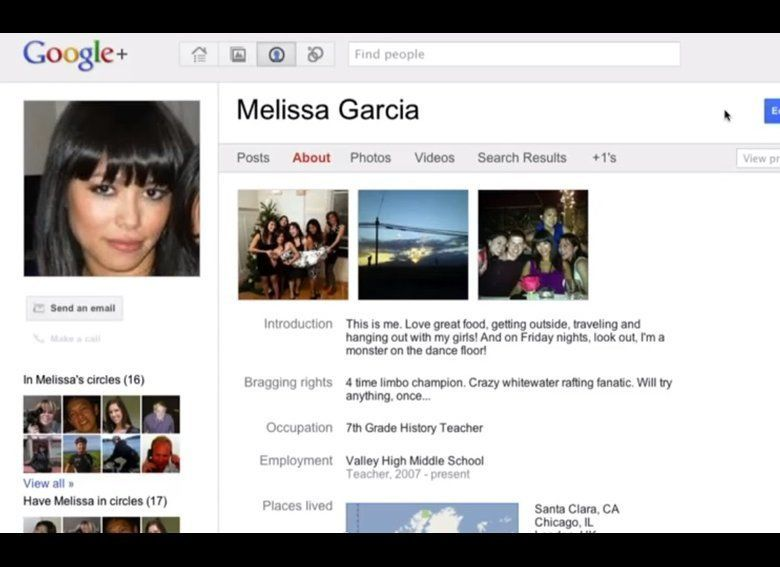 The Google+ user interface and profile layout should feel pretty familiar to users. Many elements are reminiscent of popular