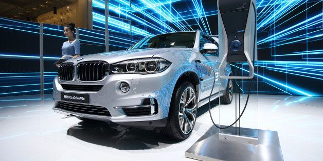 A Bmw Ag X5 Xdrive40e Plug In Hybrid Vehicle Stands On Display At The 16th