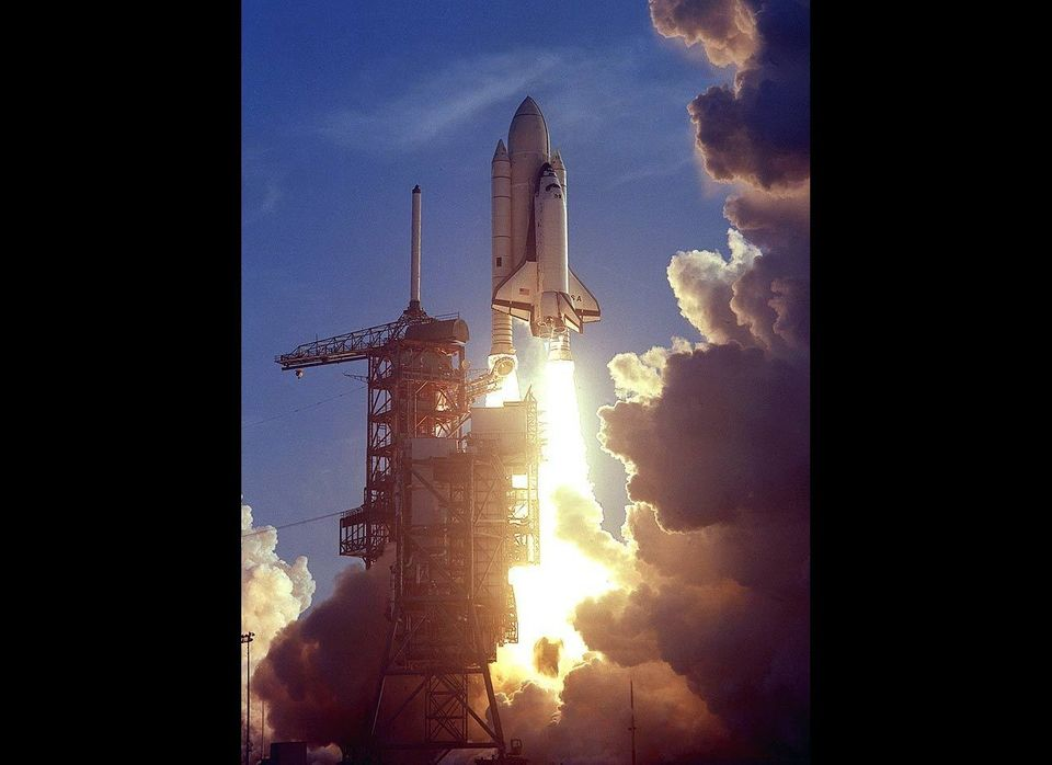A new era in space flight began, when on April 12, 1981 the first space shuttle mission was launched. STS-1 commander John Yo