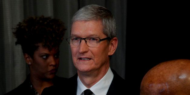 Tim Cook attends the 2015 Robert F. Kennedy Human Rights Ripple of Hope Awards at the New York Hilton Midtown on Tuesday, Dec