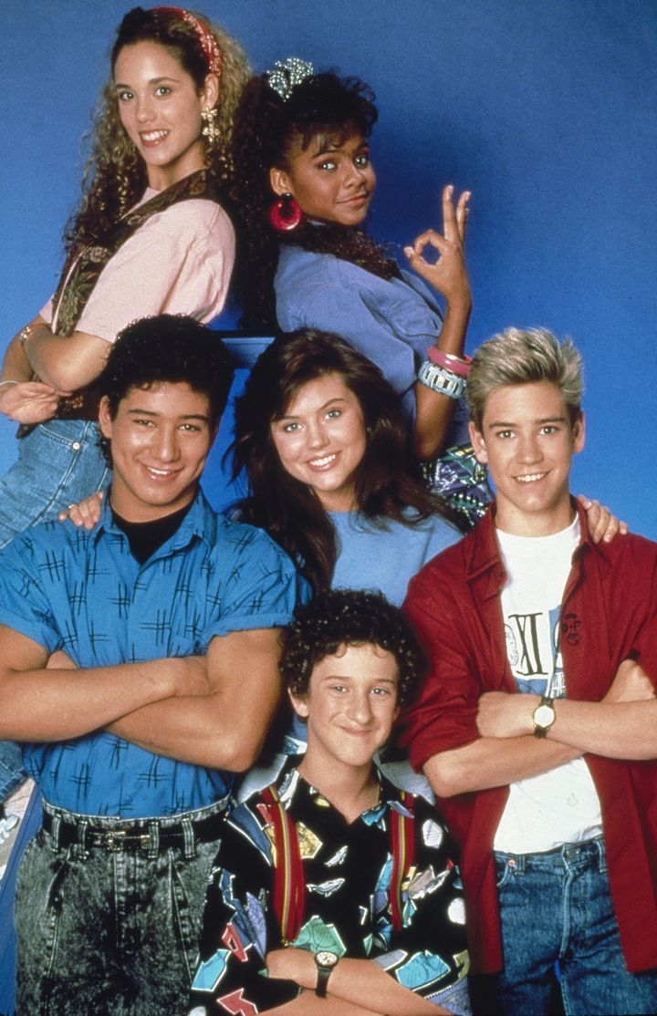 """Saved by the Bell"" starred Elizabeth Berkley, Lark Voorhies, Mario López, Tiffani Thiessen, Mark-Paul Gosselaar"