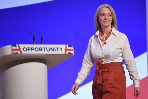 Chief Secretary to the Treasury Liz Truss at the Conservative Party annual conference at the International...