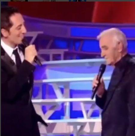 Quand Gad Elmaleh chantait avec Charles Aznavour