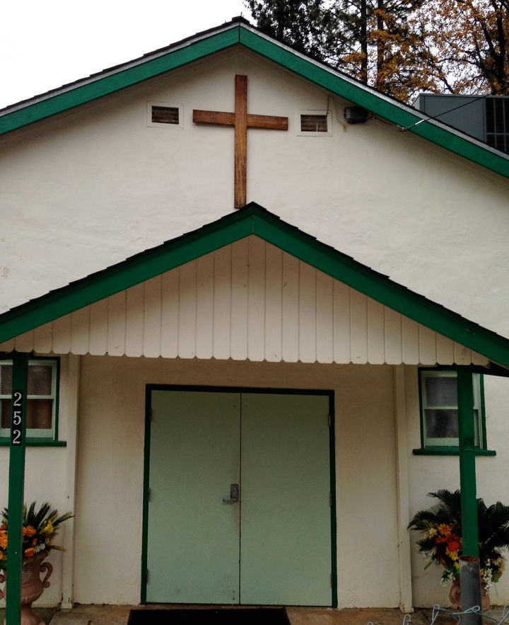 The fundamentalist church in Northern California that Gelsinger attended as a teenager.