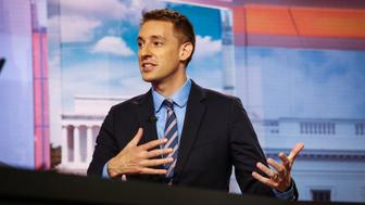 Jason Kander, mayoral candidate for Kansas City, speaks during a Bloomberg Television interview in New York, U.S., on Tuesday, Aug. 7, 2018. Kander was seen by some as a potential 2020 Democratic presidential nomination until he entered the race for mayor of Kansas City in June. Photographer: Christopher Goodney/Bloomberg via Getty Images