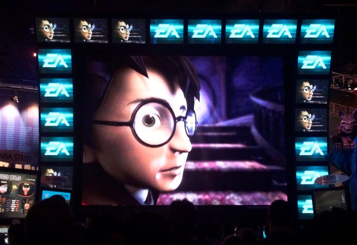 """A scene from 2001's """"Harry Potter and The Sorcerer's Stone"""" video game."""