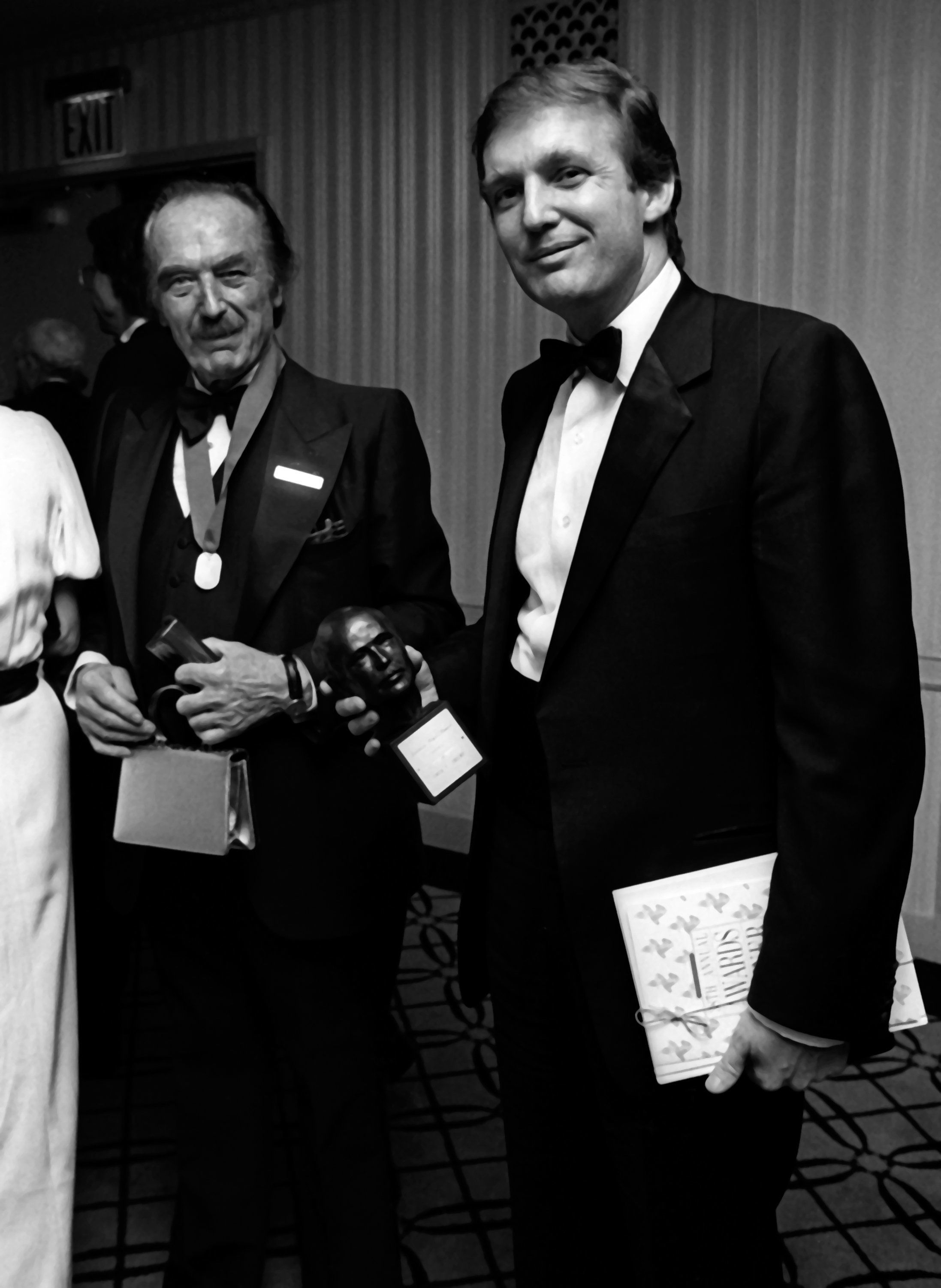 NEW YORK CITY - MAY 10:  Donald Trump and Fred Trump attend 38th Annual Horatio Alger Awards Dinner on May 10, 1985 at the Waldorf Hotel in New York City. (Photo by Ron Galella/WireImage)