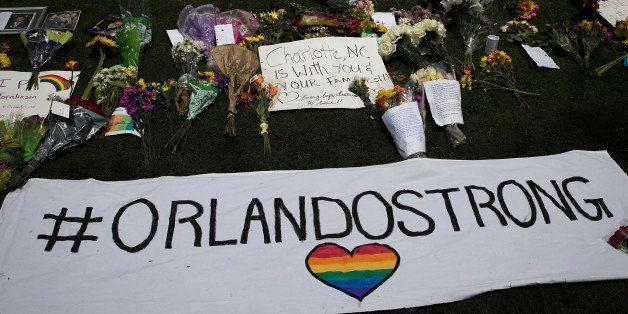 ORLANDO, FL - JUNE 13:  on South Orange Avenue down the street from Pulse Nightclub on June 13, 2016 in Orlando, Florida. The