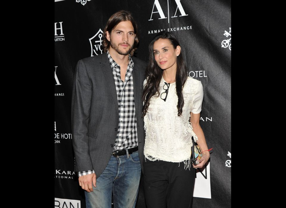 NEW YORK, NY - JUNE 09:  Actors Ashton Kutcher and Demi Moore attend The Urban Zen Stephan Weiss Apple Awards at Urban Zen on