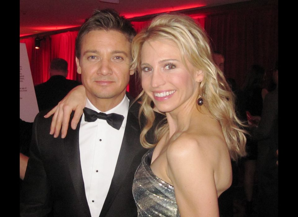 16th Annual Critics Choice Movie Awards - Cocktail Reception: Jeremy Renner and BFCA member Zorianna Kit
