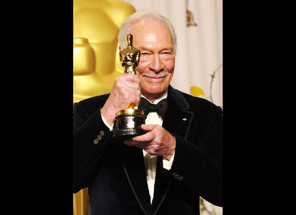 HOLLYWOOD, CA - FEBRUARY 26:  Actor  Christopher Plummer, winner of the Best Supporting Actor Award for 'Beginners,' poses in