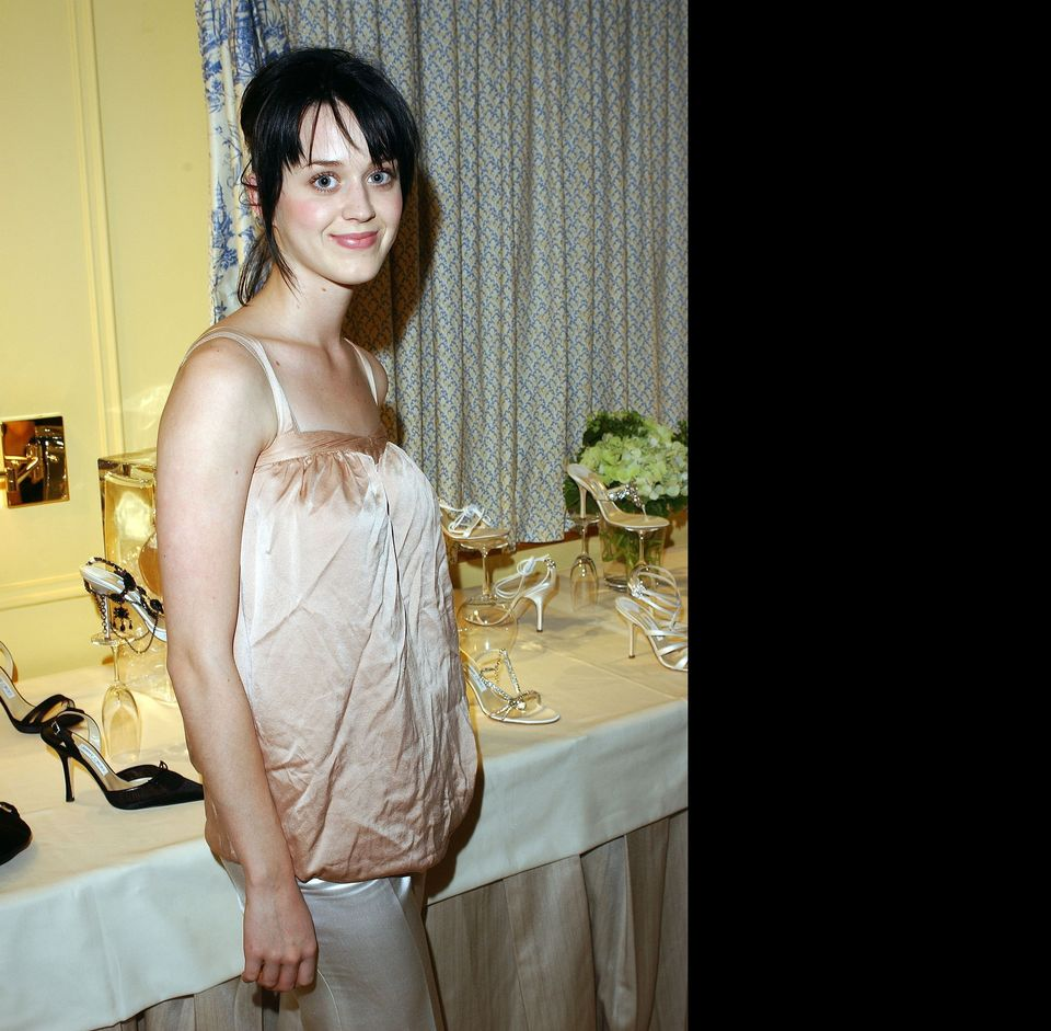 Singer Katy Perry during the Jimmy Choo annual Oscar Collection Preview and Tea at the Peninsula Hotel on February 23, 2004 i