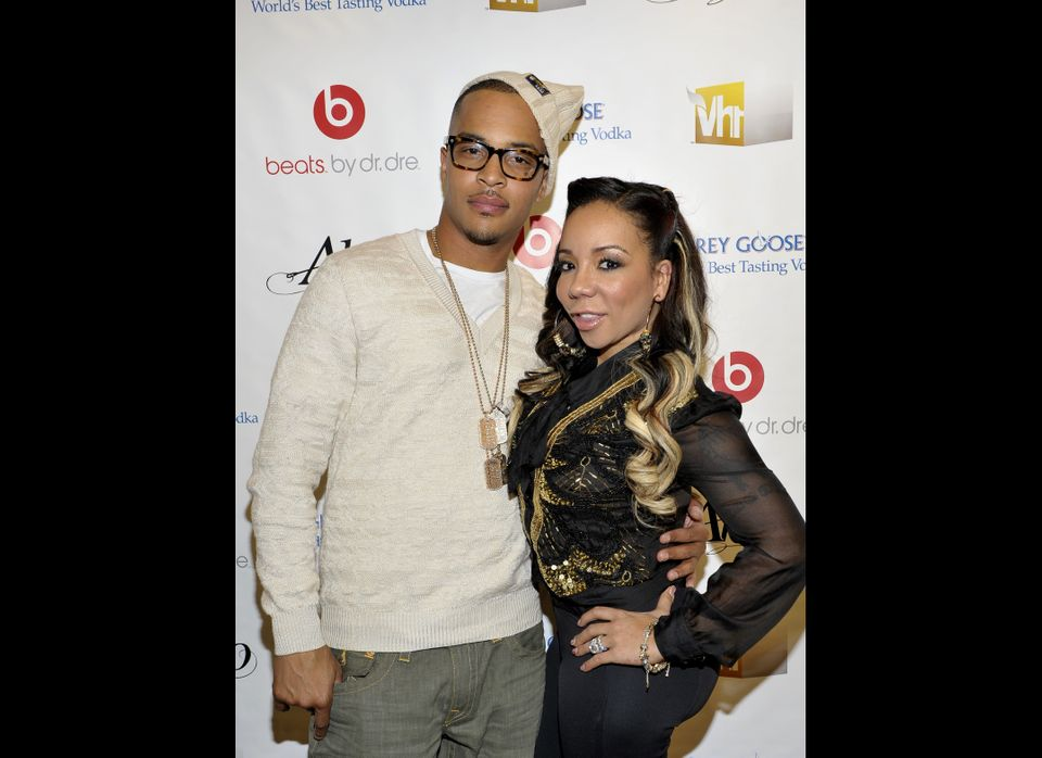 T.I. and Tiny attend the premiere screening of T.I. & Tiny: The Family Hustle at the Yotel Hotel on December 1, 2011 in New Y