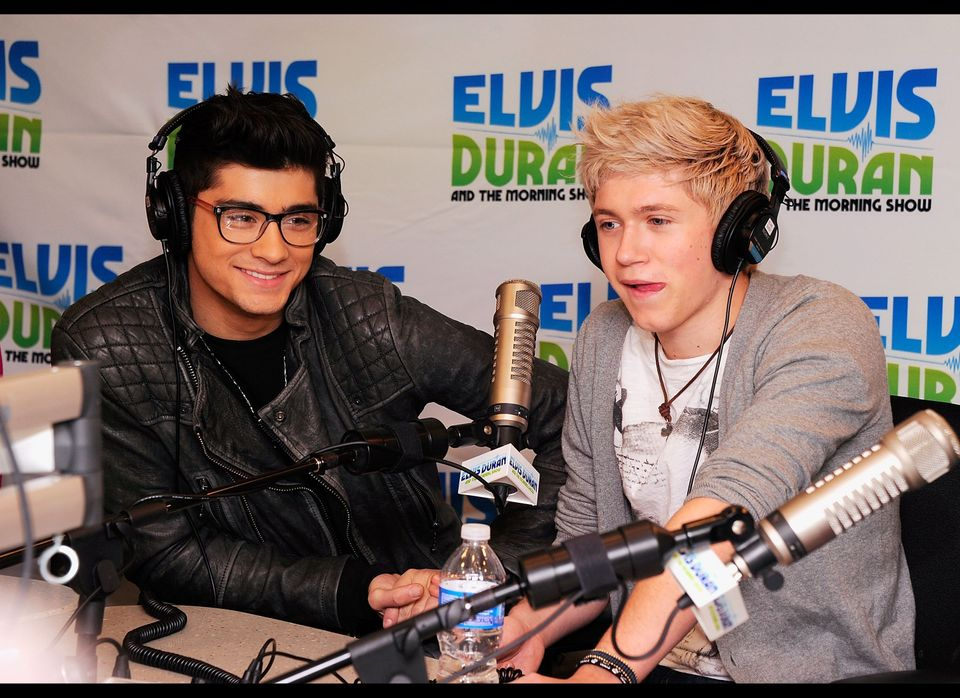 One Direction band members (L-R) Zayn Malik and Niall Horan visit 'The Elvis Duran Z100 Morning Show' at Z100 Studio on March