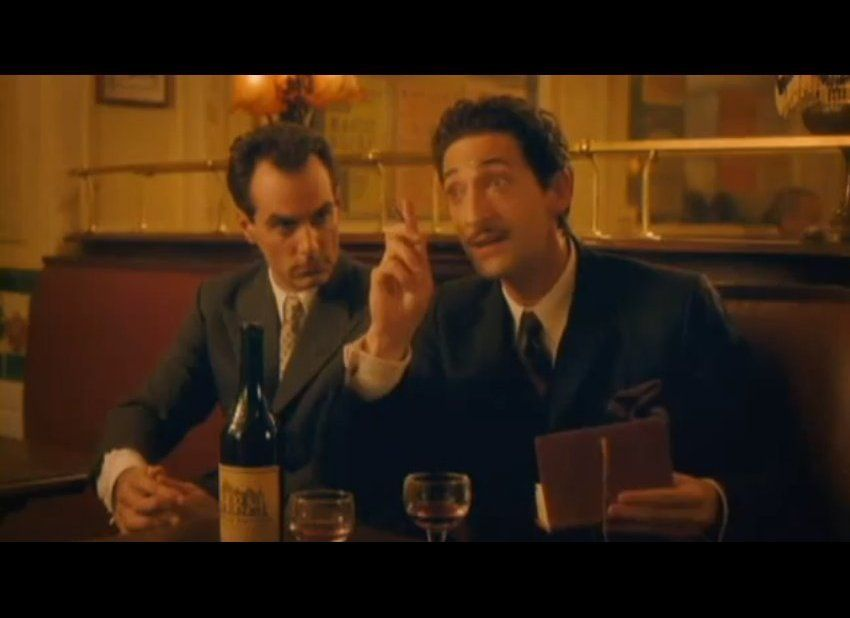 """Brody gets into the role of painter Salvador Dali in Woody Allen's 2011 film """"Midnight In Paris."""""""