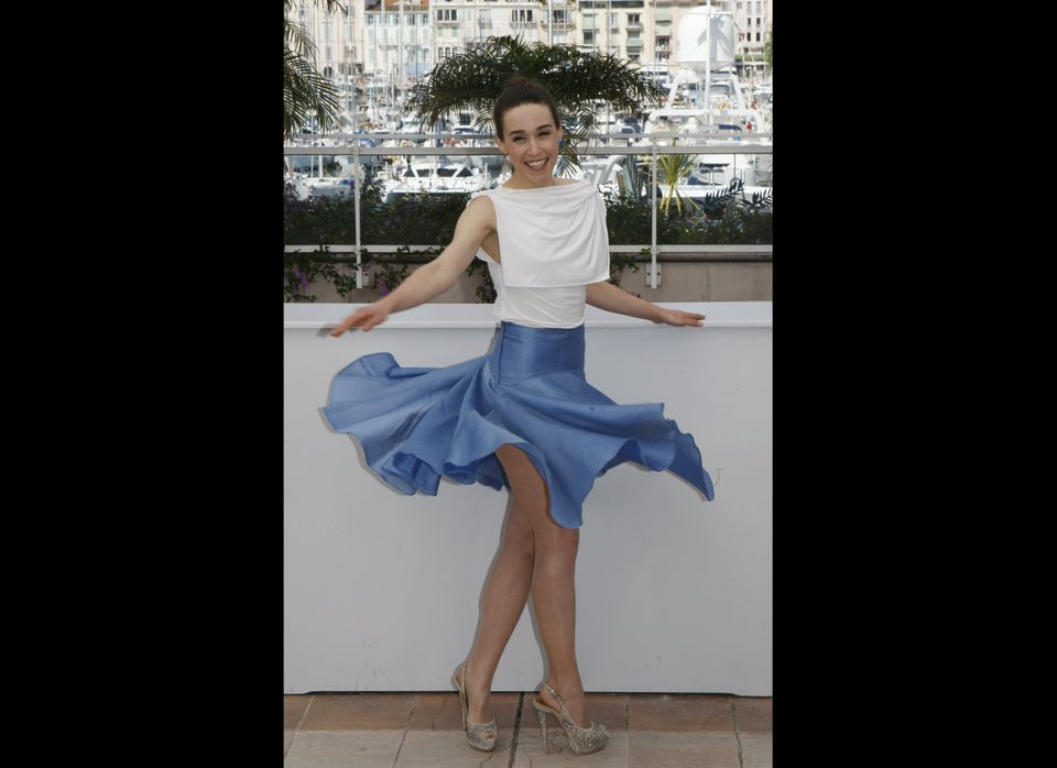 Actress Arta Dobroshi poses during a photo call for Cosmopolis at the 65th international film festival, in Cannes, southern F