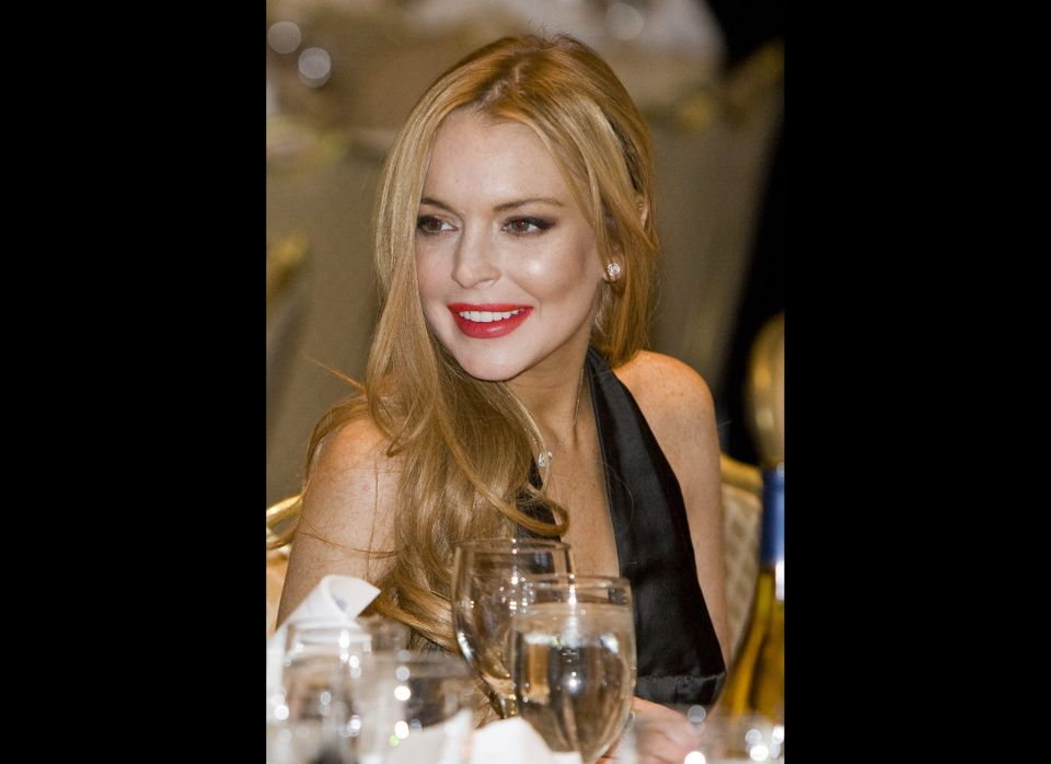 Lindsay Lohan attends the 2012 White House Correspondents' Association Dinner held at the Washington Hilton on April 28, 2012