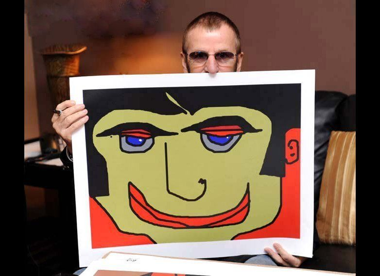 "Ringo with ""Eye Lidded Man"""