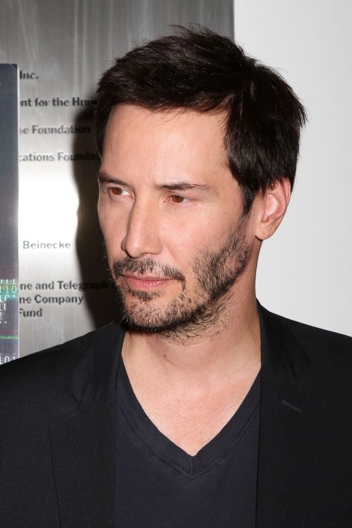 Keanu Reeves attends the screening of 'Side by Side' at the Museum of Modern Art in New York City.