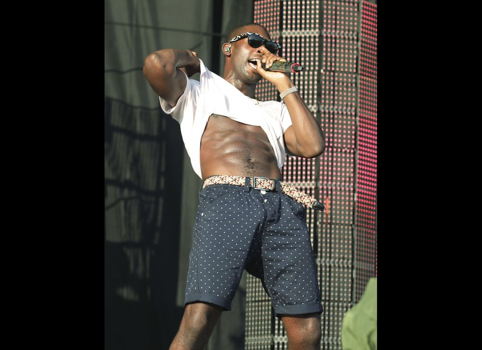 Tinie Tempah performing at the V Festival in Hylands Park, Chelmsford, England, Sunday Aug. 19, 2012. (AP Photo / Yui Mok, PA
