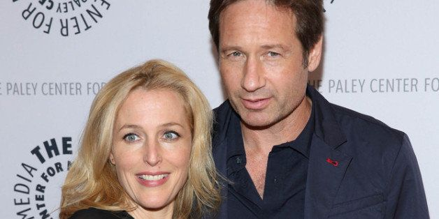 NEW YORK, NY - OCTOBER 12:  David Duchovny and Gillian Anderson attend 'The Truth Is Here: David Duchovny And Gillian Anderso