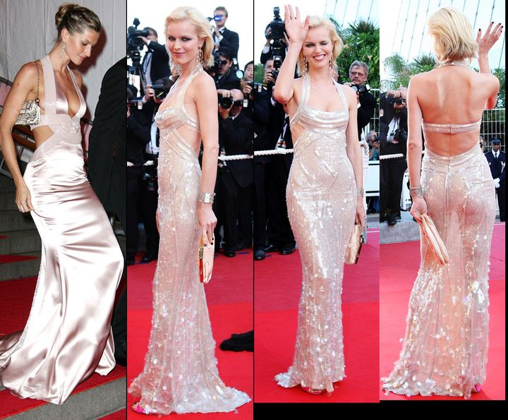 Eva Herzigova Dons Sheer Gisele-Like Dress (POLL, PHOTOS