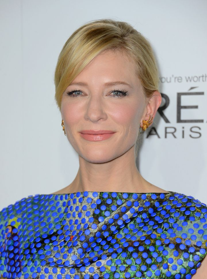 BEVERLY HILLS, CA - OCTOBER 15:  Actress Cate Blanchett  arrives at ELLE's 19th Annual Women In Hollywood Celebration at the