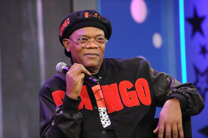 NEW YORK, NY - DECEMBER 14:  Samuel L Jackson visit BET's '106 & Park' at 106 & Park Studio on December 14, 2012 in New York