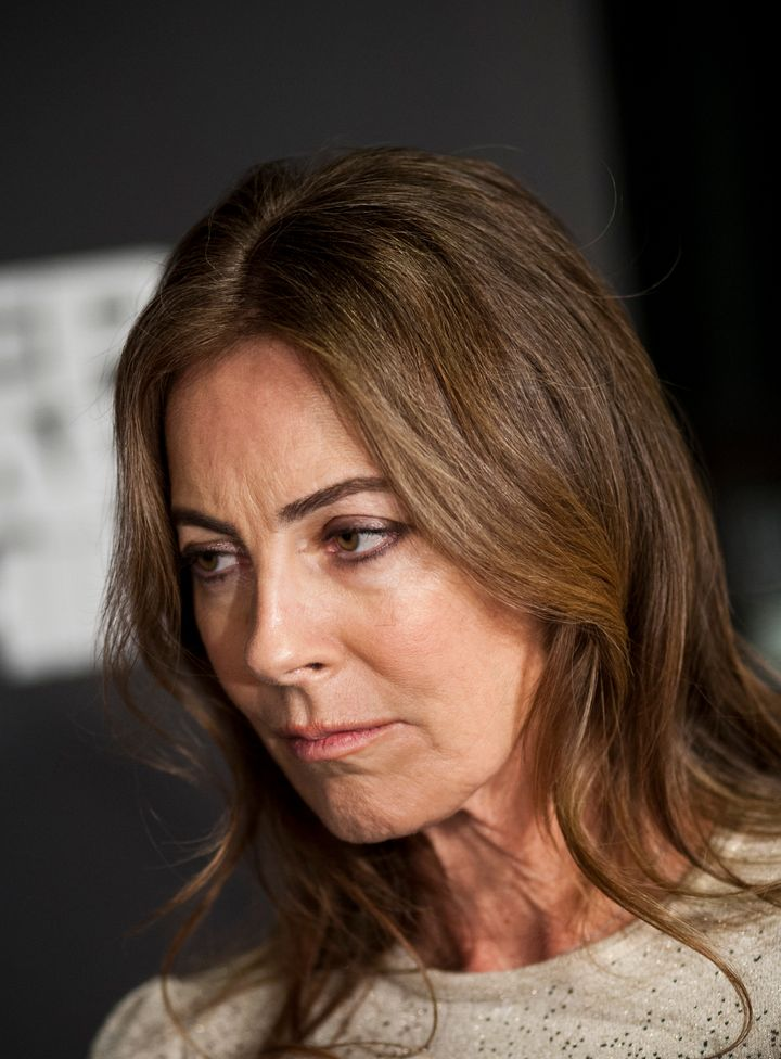 WASHINGTON, DC - JANUARY 08: Kathryn Bigelow speaks with reporters at the Newseum during the 'Zero Dark Thirty' Washington D.
