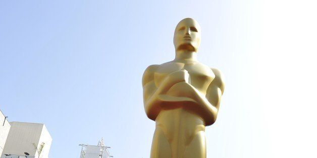 An Oscar statue stands on the red carpet in front of the Kodak Theatre on the eve of the 84th annual Academy Awards in Hollyw