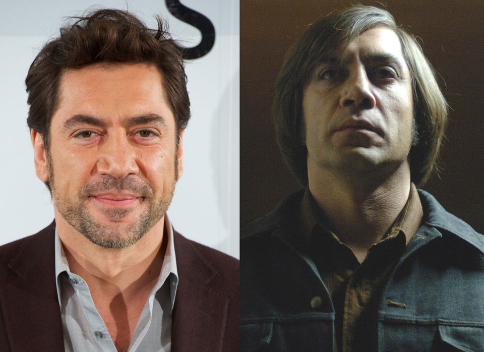 """Javier Bardem sported a pretty unflattering haircut for his role as an vicious sociopath in the film """"No Country for Old Men."""