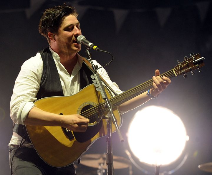 INDIO, CA - APRIL 16:  Musician Marcus Mumford of Mumford & Sons performs during Day 2 of the Coachella Valley Music & Arts F