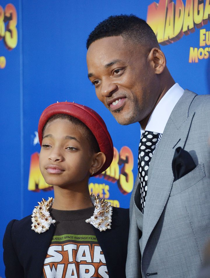 NEW YORK, NY - JUNE 07:  Actress/singer Willow Smith and actor Will Smith attend the 'Madagascar 3: Europe's Most Wanted' New
