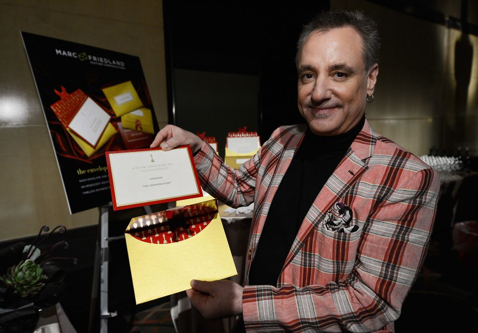 HOLLYWOOD, CA - JANUARY 22:  Marc Friedland, designer of the Academy Awards winners envelope and invitations, during a previe