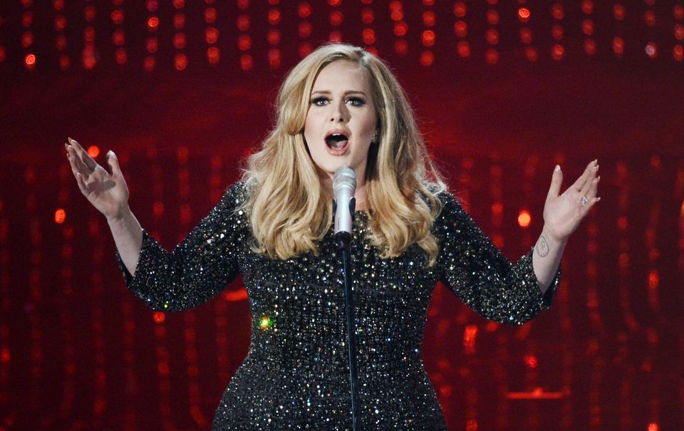 HOLLYWOOD, CA - FEBRUARY 24:  Singer Adele performs onstage during the Oscars held at the Dolby Theatre on February 24, 2013