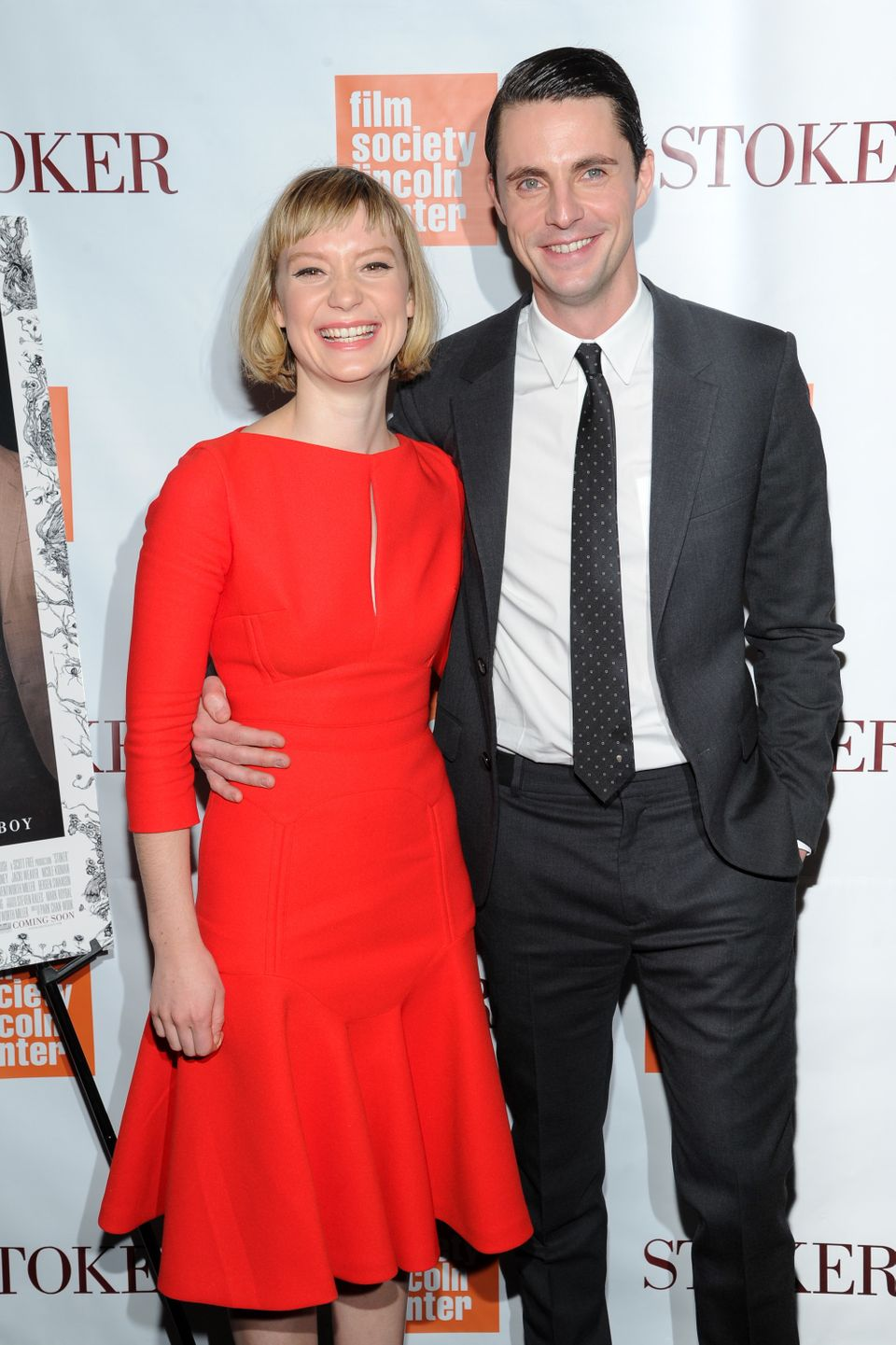"""Actors Mia Wasikowska and Matthew Goode attend the premiere of """"Stoker"""" at Walter Reade Theatre on Wednesday, Feb. 27, 2013 i"""