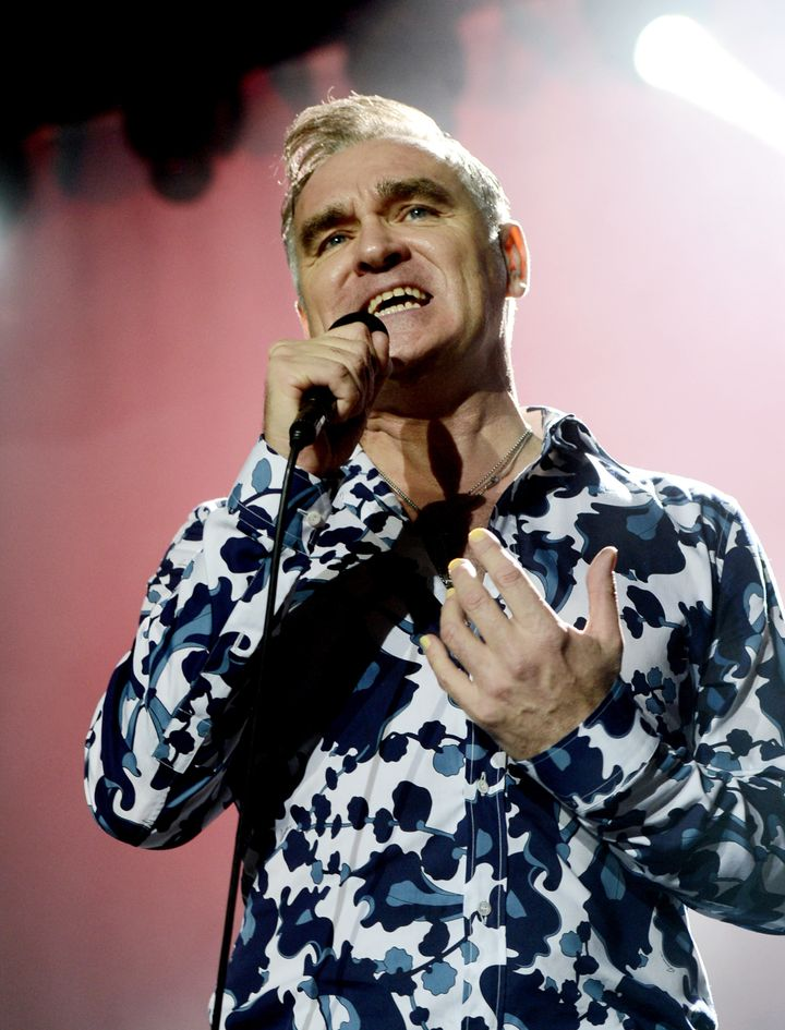 LOS ANGELES, CA - MARCH 02: Singer Morrissey performs at Hollywood High School on March 2, 2013 in Los Angeles, California. (Photo by Kevin Winter/Getty Images)
