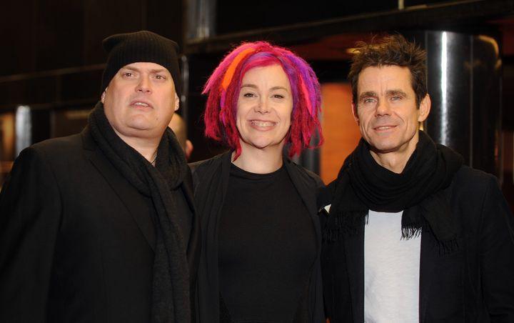 LONDON, UNITED KINGDOM - FEBRUARY 18: Andy Wachowski, Lana Wachowski and Tom Tykwer attends the gala screening of 'Cloud Atla
