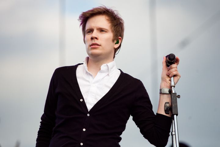 WASHINGTON - APRIL 25: Patrick Stump, lead singer of the band Fall Out Boy, performs with the Roots at the Climate Rally on t