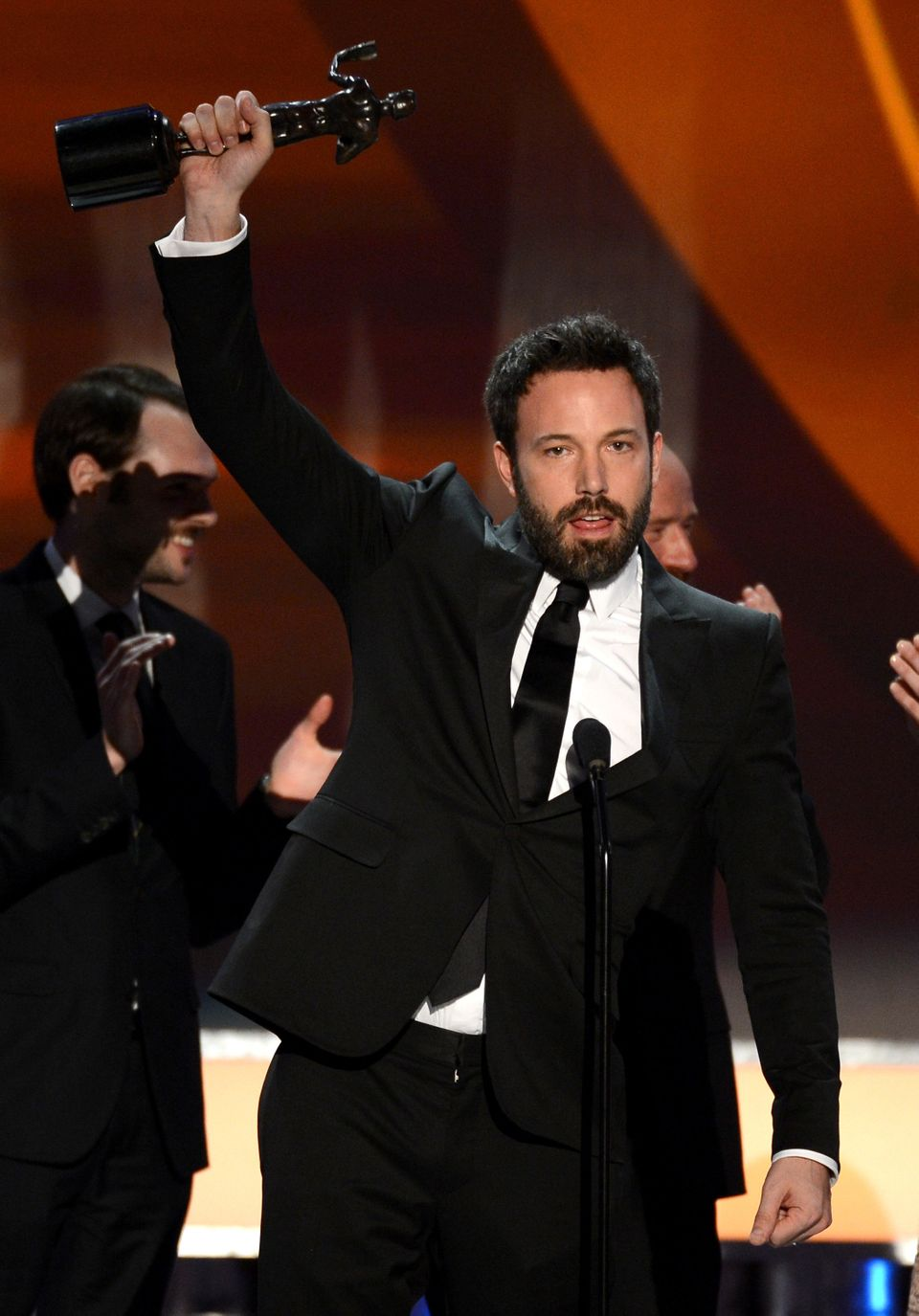 LOS ANGELES, CA - JANUARY 27:  Actor Ben Affleck speaks onstage during the 19th Annual Screen Actors Guild Awards held at The