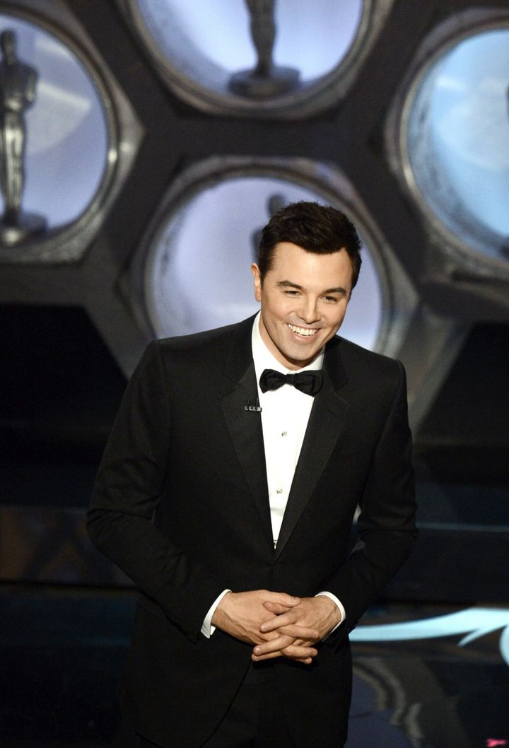 HOLLYWOOD, CA - FEBRUARY 24:  Host Seth MacFarlane speaks onstage during the Oscars held at the Dolby Theatre on February 24,