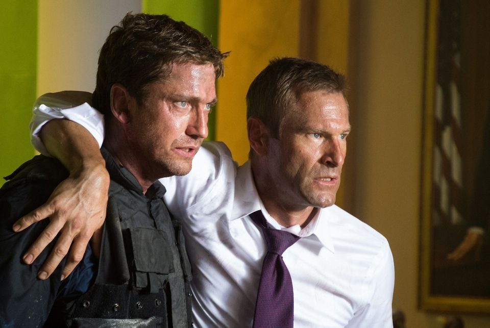 Directed by Antoine Fuqua, OLYMPUS HAS FALLEN stars Gerard Butler and Aaron Eckhart. Photo credit: Phillip V. Caruso