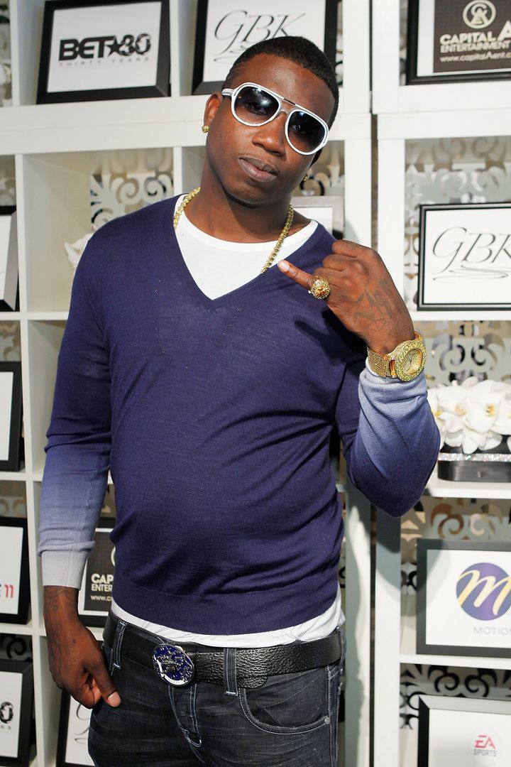 LOS ANGELES, CA - JUNE 26:  Gucci Mane attends the GBK BET Awards Official Backstage Talent Lounge  at The Shrine Auditorium