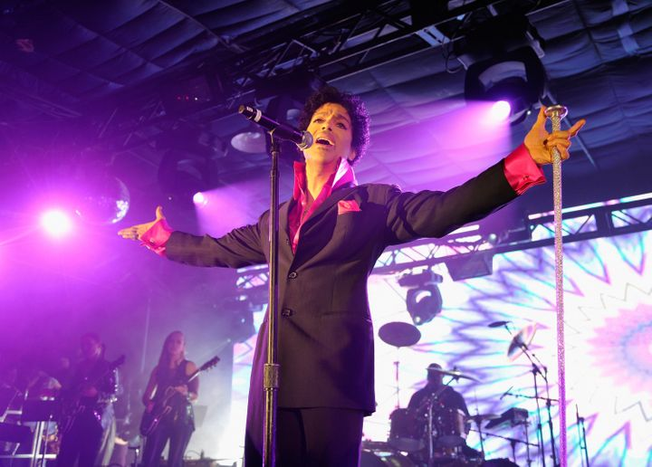 AUSTIN, TX - MARCH 16:  Prince performs as Samsung Galaxy presents Prince and A Tribe Called Quest at SXSW on March 16, 2013