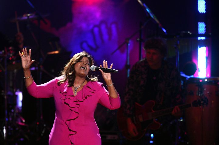 NEW YORK - JULY 18:  Gloria Gaynor performs during the Mandela Day: A 46664 Celebration Concert at Radio City Music Hall on J