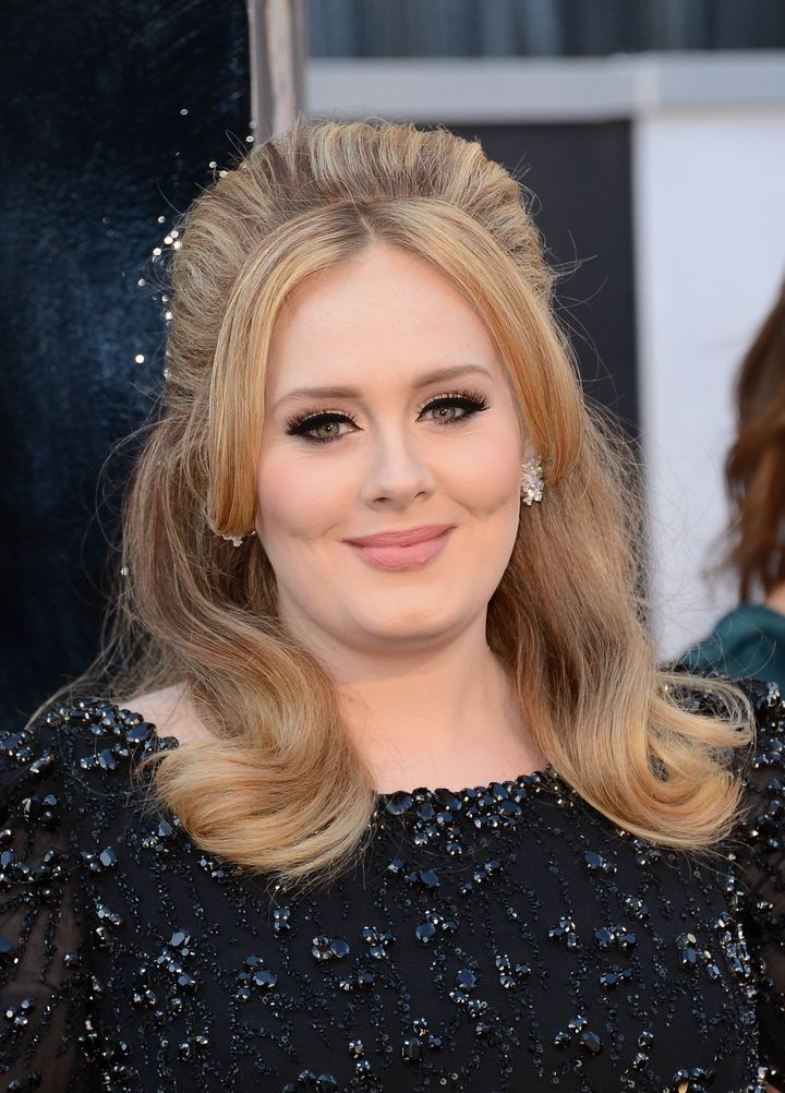 HOLLYWOOD, CA - FEBRUARY 24:  Singer Adele arrives at the Oscars at Hollywood & Highland Center on February 24, 2013 in Holly