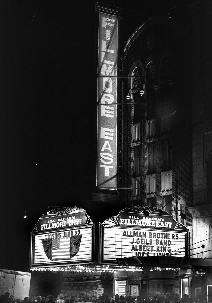 UNITED STATES - JUNE 27:  End of an Era: Fillmore East by-invitation-only tickets rockfest, hip impresario Bill Graham padloc