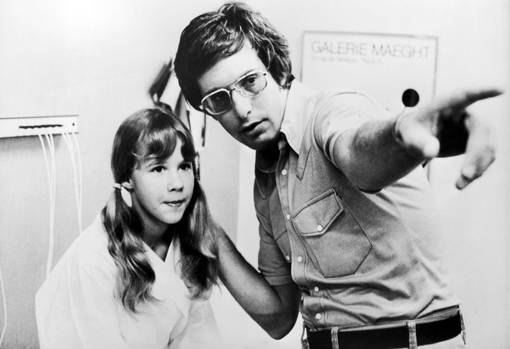 UNSPECIFIED - CIRCA 1974:  Linda Blair And William Friedkin On The Exorcist Shooting, In 1974  (Photo by Keystone-France/Gamm