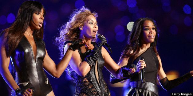 NEW ORLEANS, LA - FEBRUARY 03:  Kelly Rowland, Beyonce Knowles and Michelle Williams of Destiny's Child perform during the Pe